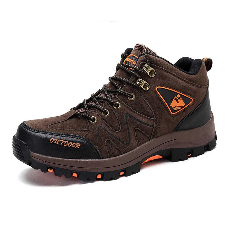 Açık Erkekler Sneakers yürüyüş ayakkabıları Moda Balıkçılık trekking ayakkabıları Su Geçirmez Erkek Kamp Spor Avcılık Sonbahar Kış Çizmeler