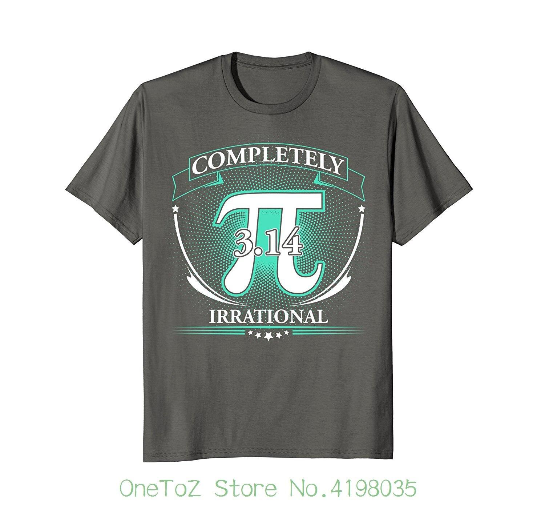 Pi Completely Irrational T-shirt Lover Cartoon Print Short Sleeve T Shirt Free Shipping