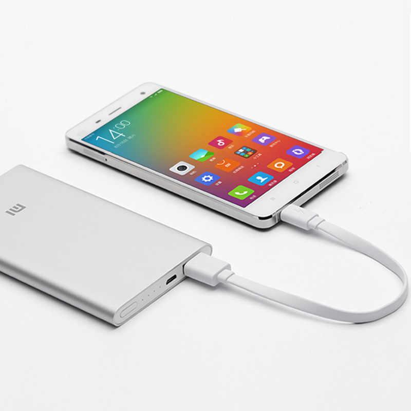 シャオ mi mi 電源銀行ケーブル mi cro の usb 充電ケーブル 20 センチメートル長さフラットワイヤー短いバッテリーケーブルコード Bluetooth ヘッドセット