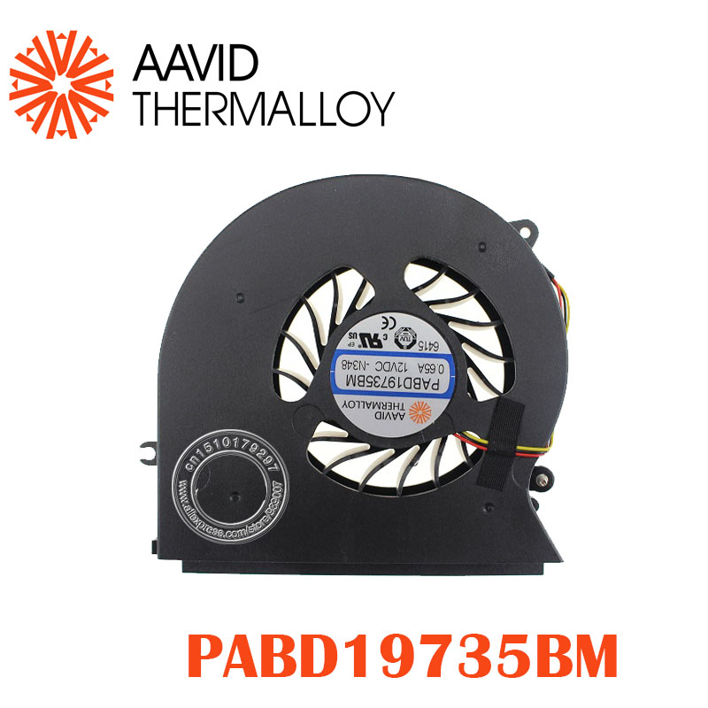 New And Original CPU Fan For MSI MSI GT72 GT72S GT72VR 6QD 6RD MS-1781 MS-17 CPU Cooling Fan Cooler PABD19735BM 3pin 0.65A 12VDC
