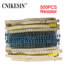 CNIKESIN 500pcs/lot 1/4W Metal Film Resistor Package Precision 1% 25 Kinds of Commonly Used Each Kinds 20pcs 1/4W
