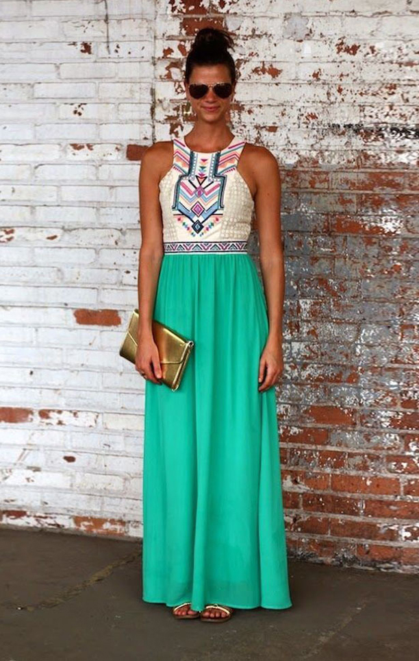 Compare Prices on Chevron Maxi Dress with Sleeves- Online Shopping ...