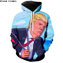 PLstar Cosmos Funny US President Donald trump  Hoodies Sweatshirt 3d Printed Men/Women Clothing tops size S-5XL