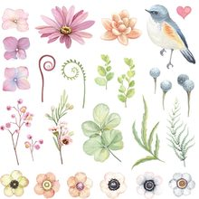 Small Flower Patch A Lot Heat Transfer Patches For Girl Women T-Shirt Clothing Patches Washable DIY Sticker On Clothes Y-084 цена и фото