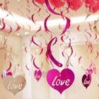 12pcs Heart Foil Han...