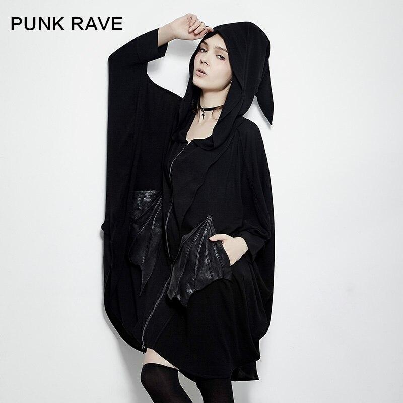 Здесь продается  PUNK RAVE 2017 new design punk style cool women hoodie with batwing sleeeve sweatshirts PY-178  Одежда и аксессуары