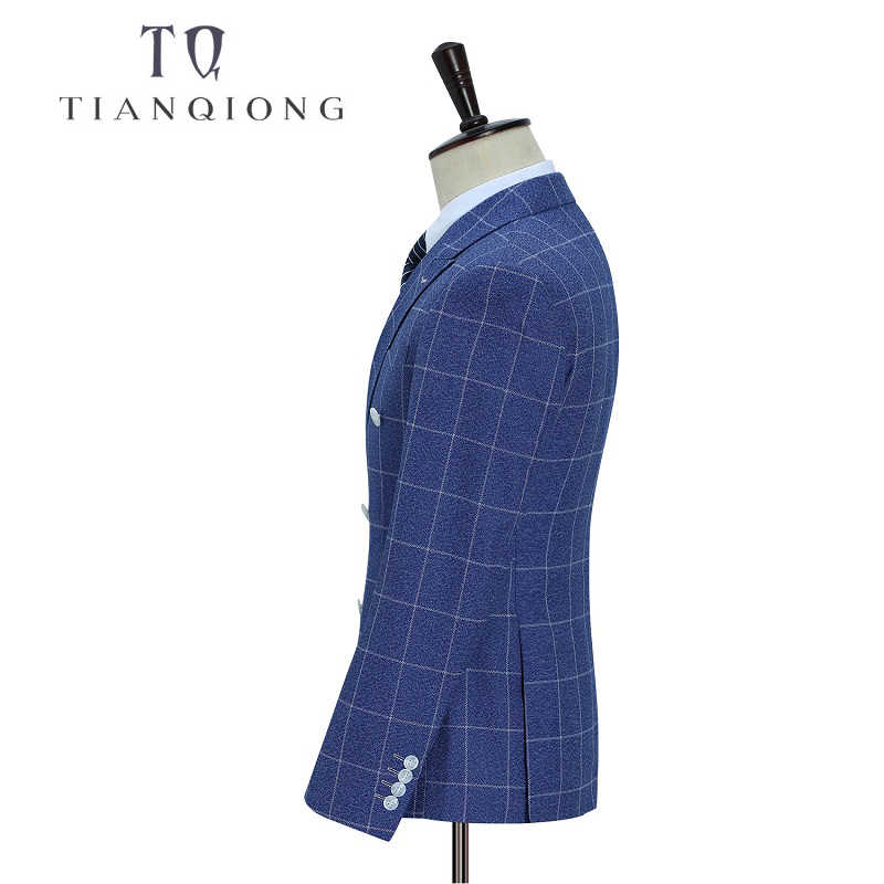 TIAN QIONG Brand 2018 New Arrival High Quality Fashion Double Breasted Suits Men,streak Men's Suit,Size M-5XL,Jacket+ Pants+Vest