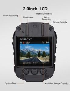 Image 3 - BOBLOV cámara de seguridad corporal PD50 HD 1296P IR, cámara de policía de bolsillo con visión nocturna, grabador de vídeo DVR, guardia de seguridad