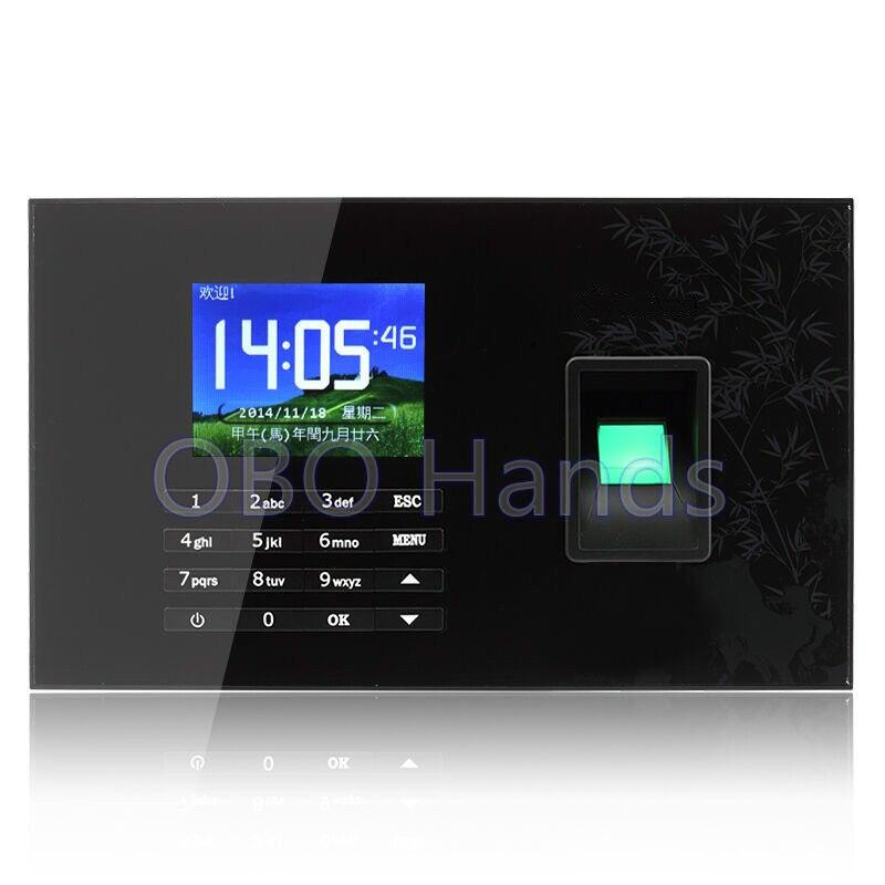 Realand TCP/IP tarjeta USB RFID biometría de huella digital reloj de tiempo del registrador y pantalla táctil empleado tiempo asistencia sistema