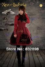 New Baroque Cotton Classic Lolita Dress A-Line Gothic Dress