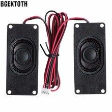 BGEKTOTH 2Pcs 3070 4 Ohm 3W Advertising LCD TV Speakers Loudspeaker Rectangle Speaker