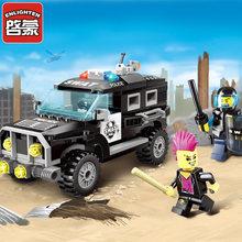 Enlighten 1110 playmobil 185Pcs Police Swat Car Building Blocks city Kids Educational Bricks action figure Toys for children