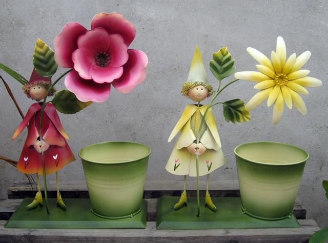 Decorazione Vasi Da Giardino : Metallo vaso da giardino figure accessori rustico secchio di