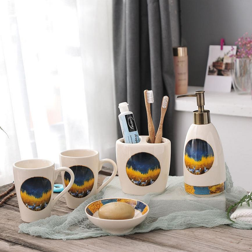 US $49.99  Aliexpress.com : Kreative Eis Knacken Ceranic Badezimmer set  Fünf Teiliges Set Bad accessoires Set Umweltfreundliche Haushaltswaren Für  ...