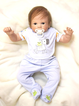 48cm 20iinch Silicone Reborn Dolls npkdoll adorable fashion bedtime playmate Kids birthday gift Xmas presents for sale