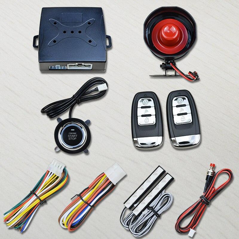 Code de roulement clé intelligente PKE passif sans clé entrée système d'alarme de voiture bouton poussoir démarrage à distance moteur démarrage universel Version Golf