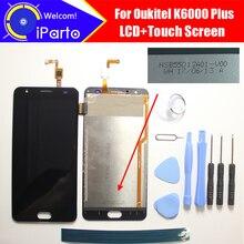 Oukitel K6000 زائد شاشة الكريستال السائل + لمس NSB55012A01 V00 100% الأصلي اختبار محول الأرقام زجاج لوحة استبدال ل K6000 زائد