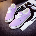 Women's Casual Canvas Shoes Hot-selling Fashion Breathable Lacing Shoes Candy-colored Mens Casual Shoes Flats Size35~43