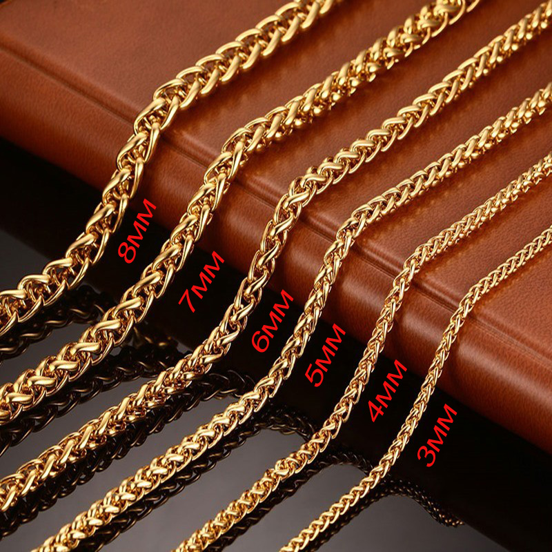 width gold singapore from wheat steel chains item spiga long in twisted necklaces with new choker jewelry color chain neckalce for black men mens hot statement stainless necklace rope