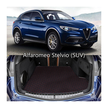 lsrtw2017 durable wearable waterproof car trunk mat for ford ALFA ROMEO stlivo 2015 2016 2017 2018 2019 2020