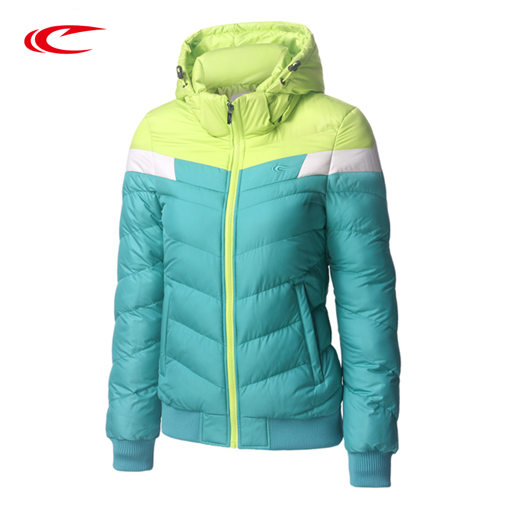 SAIQI New Winter Jacket Women Hooded Coat Female Thick Sport jacket Women Cotton-Padded Color Patchwork Trainning Jackets 1025 цены онлайн