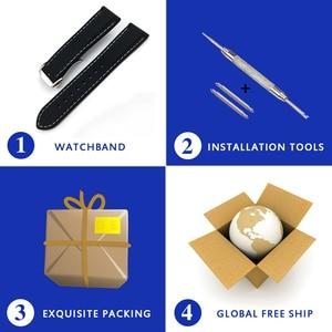 Image 5 - 20 Mm 22 Mm Universal Siliconen Horloge Bands Voor Seiko Sport Rubber Voor Breit Ling Band Horlogeband Voor Samsung gear S3 Armband Blauw