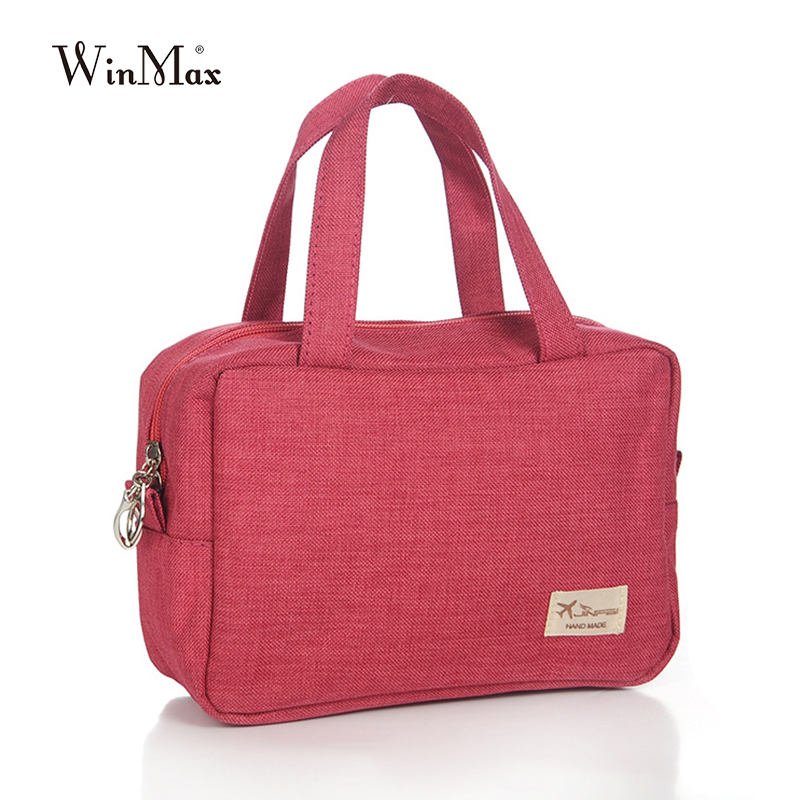 Winmax New Arrive women handbag clutch Cosmetic Bag Organizer Make Up Bag Women Men small canvas makeup washing Bags portable aosbos fashion portable insulated canvas lunch bag thermal food picnic lunch bags for women kids men cooler lunch box bag tote