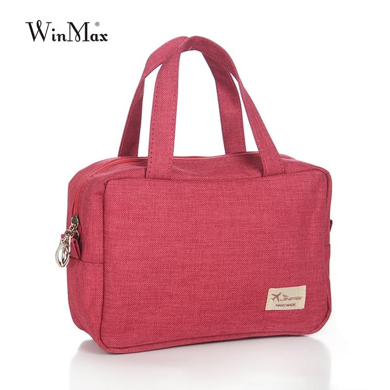 Winmax New Arrive women handbag clutch Cosmetic Bag Organizer Make Up Bag Women Men small canvas
