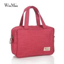 Winmax New Arrive women handbag clutch Cosmetic Bag Organizer Make Up Bag Women Men small canvas makeup washing Bags portable
