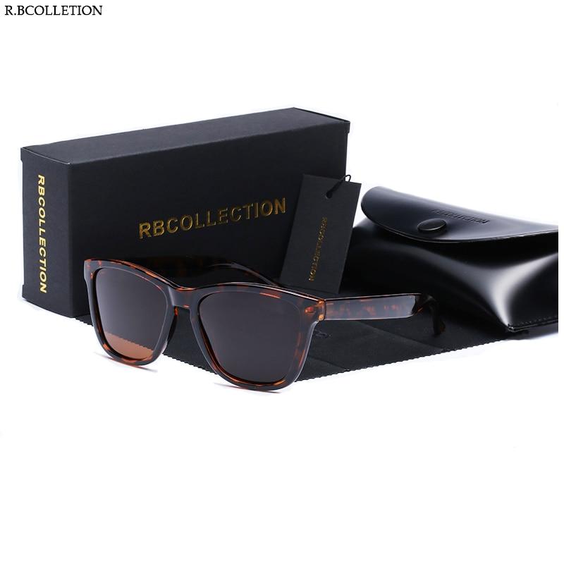 R.BCOLLECTION New Men Women Sunglasses Brand Design Polarized Mirror UV400 Vintage Sun Glasses Wrap Cool Driving 0717