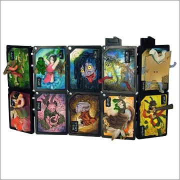 10PCS/SET Japan Monsters   figure toy three-dimensional display screens r190efe l62 lcd display screens