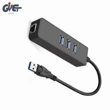 цена на Portable USB 3.0 to RJ45 10/100 /1000 Mbps Network LAN Wired Adapter Ethernet Adapter for Chromebook,MacBook,Mac Pro/Mini,iMa