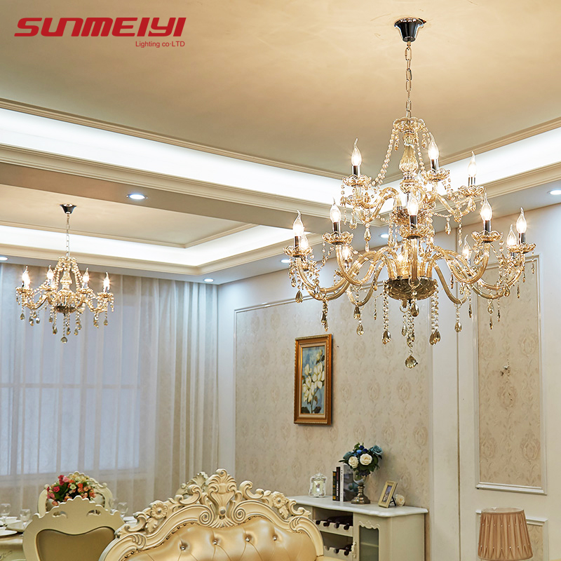 Modern Crystal Chandeliers Home Lighting lustres de cristal Decoration Luxury Candle Chandelier Pendants Living Room Indoor Lamp luxury crystal chandelier living room lamp lustres de cristal indoor lights crystal pendants for chandeliers d20cm ce vallkin
