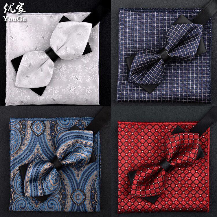 SHENNAIWEI 2016 bărbați cravatta și batistă set bowtie moda - Accesorii pentru haine
