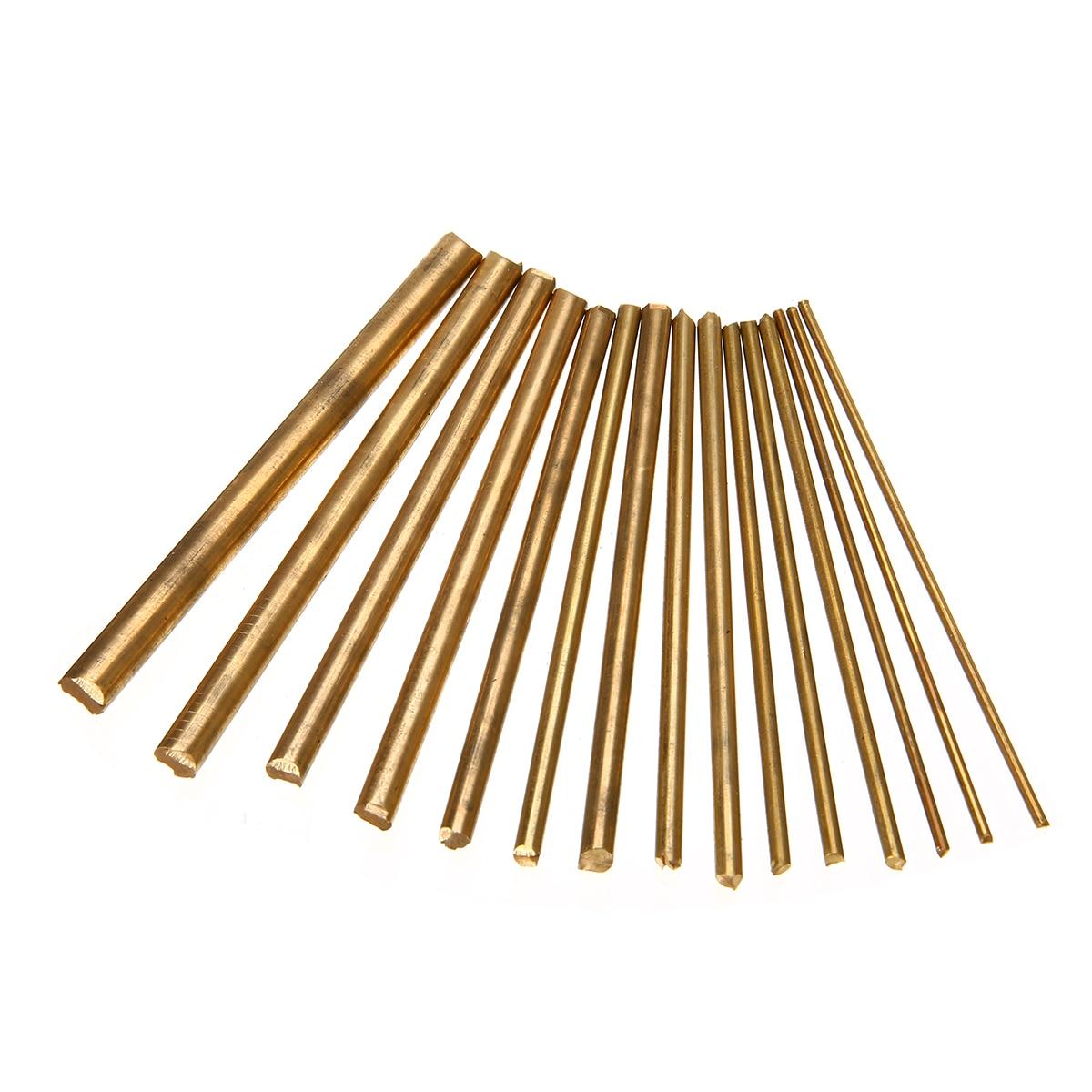 15pcs Brass Round Rod Bar Watchmaker Lathe DIY Watch Tool Parts 100mm Length 2/3/4/5/6/7/8mm Diameter For DIY Craft Making 2pcs hss grooving tool round turning lathe bars silver gray dia 5 1 5 2 5 3 5 4 5 5 5 6 5 7 5 8 5 9 6 6 1 6 2 9mm 100mm long