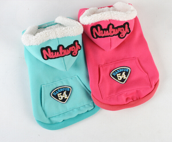 1pcs/lot dogs cats fashion hoodies pet dog cat warm soft sweatershirts doggy autumn winter sweaters puppy apparel pets products