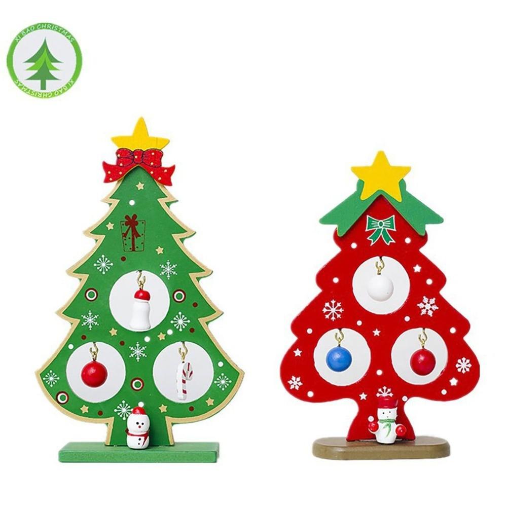 Christmas Tree Ornaments Desktop Decorations Creative Wooden Ornaments Christmas Decoration Holiday Supplies