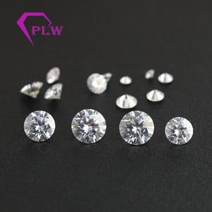 Image 4 - D cor 10 pçs * 0.1ct 3 mm/pacote preço de atacado vvs corte brilhante moissanite para anel pulseira brinco diamante