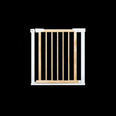 75 to 84 cm Wooden Baby Gate for Stairs with 5cm Thick Steel Frame for Child Security 3