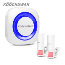 KOOCHUWAH Wireless Chime DoorBell House Door Gate Alarm for Store/Shop/Home PIR Infrared Sensor Entry Doorbell Motion Detector dc 4 5v wireless infrared doorbell alarm pir monitor sensor motion detector entry door bell security doorbell for shop entry hot