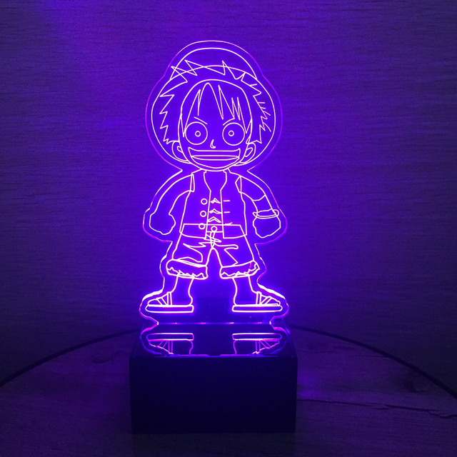 One Piece Luffy Lámpara 3D LED