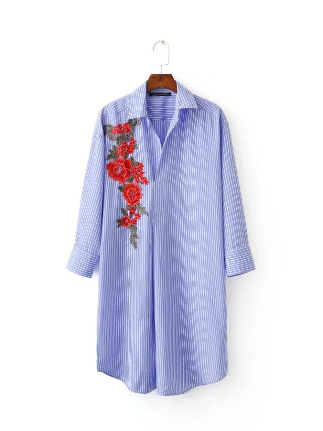 Buy brand design 2017 women elegant red for Embroidered work shirts online