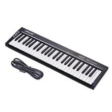 На выбор MIDI контроллер клавиатуры ультра-Портативный 49-ключ USB с 6,35 мм гнездо для педали миди из музыкальных клавишных инструментов
