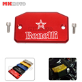 Motorcycle parts Bike CNC Aluminum Brake Fluid Tank Cap Cover Red Black Gold For BENELLI BN600 BN 600 TNT600