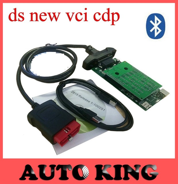 4pcs New VCI cdp with bluetooth TCS CDP Pro Plus obd2 for car and truck diagnostic tool japan NEC relays green boards Free ship
