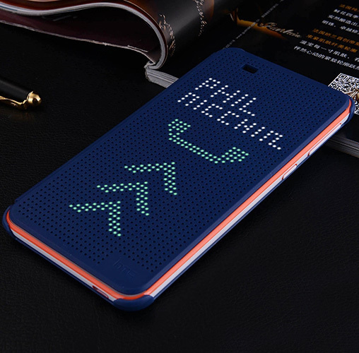 Offical design Dot view smart cover case for HTC one M9 , sleep wake up function flip case for htc M9 + retail + freeship
