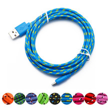 Micro USB Candy Cables for Micro Usb Charging Charger 1M Cable Nylon Charging Data Transfer Cord for Andriod for Huawei Xiaomi usb data transfer charger charging cable for psv psvita 1000 wholesale