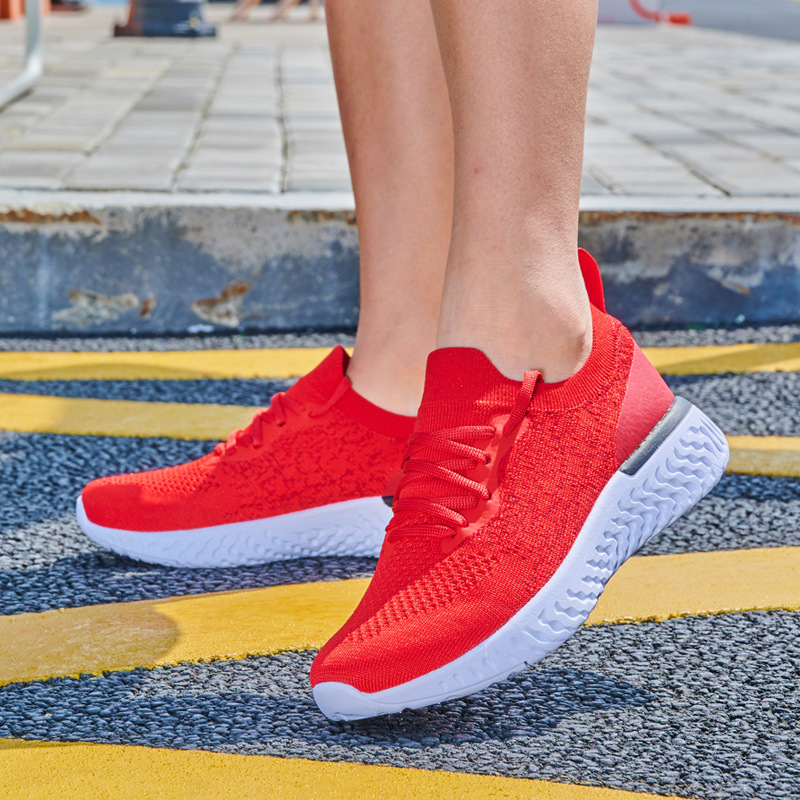 2019 Summer New Casual Couple Shoes Flying Woven Men's Shoes Mesh Students Tide Shoes Men's Breathable Sports Shoes(China)