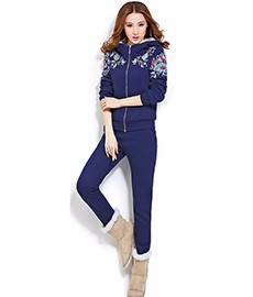 2016-new-winter-Big-yards-Leisure-suit-Female-winter-plus-thick-cashmere-knit-sweater-two-sets