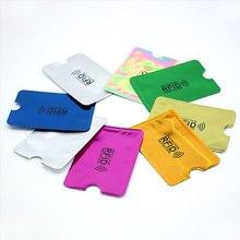 5 unids/pack Anti Rfid NFC cartera bloqueo lector cerradura tarjetero para tarjetas bancarias Id tarjeta de Banco protección caso Metal tarjeta de crédito titular